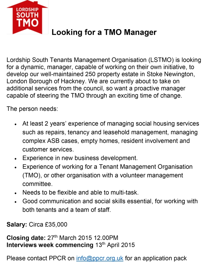 Manager Advert