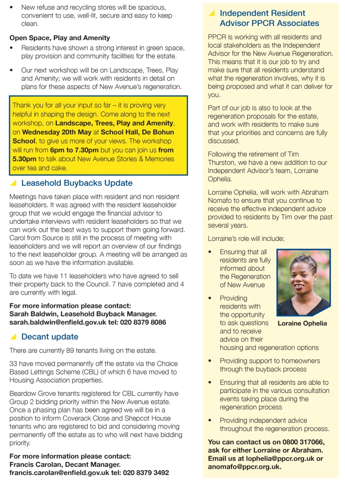 New Avenue Information Update Issue 4 May 2015 p3