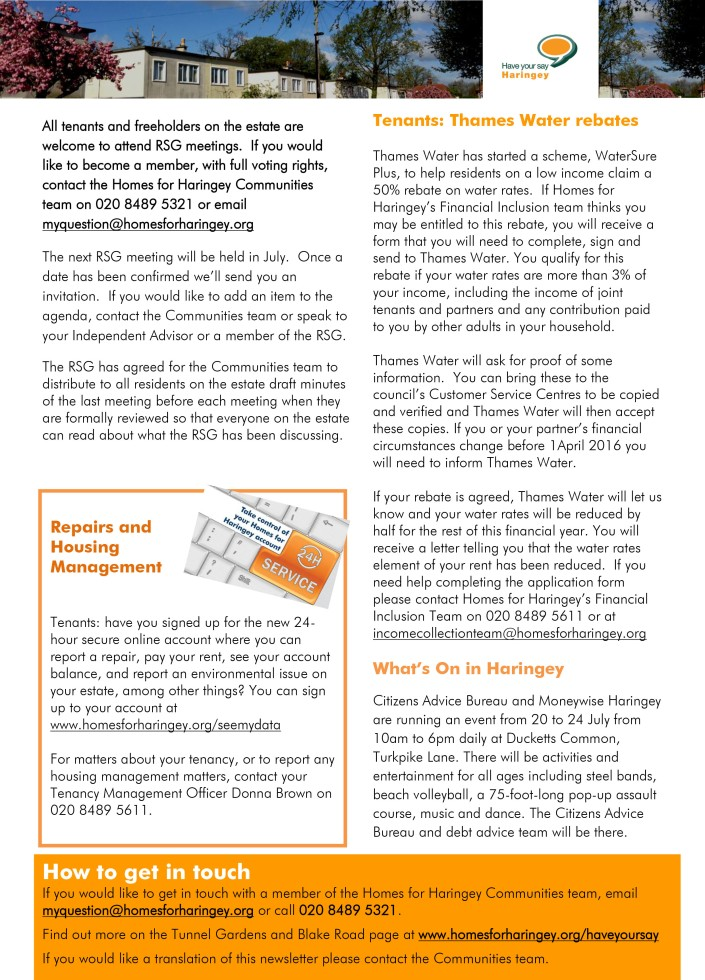 Tunnel Gardens and Blake Road - Newsletter June 2015 FINAL p2