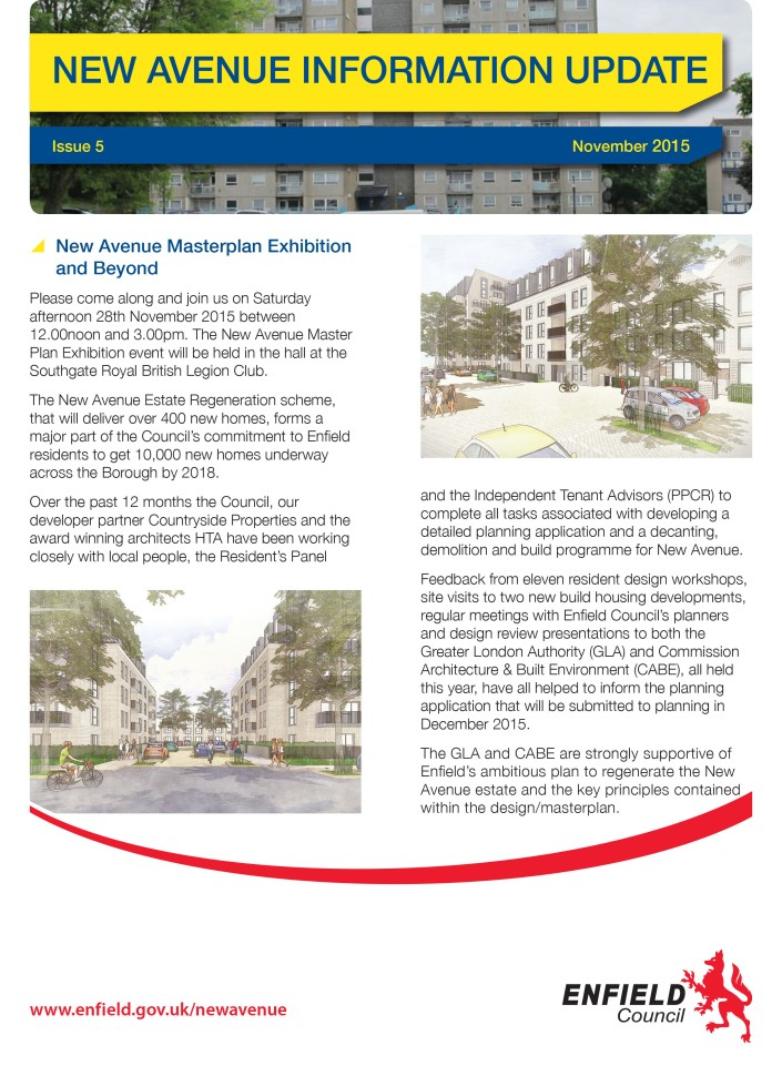 New Avenue Information Update Issue 5 November 2015-1